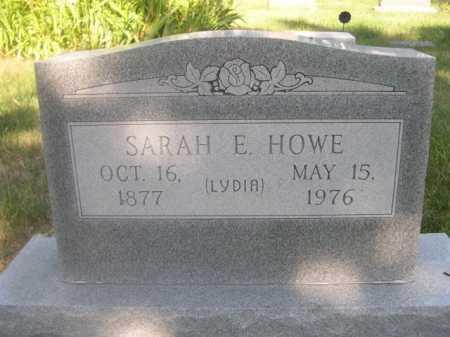 HOWE, SARAH E. - Cass County, Nebraska | SARAH E. HOWE - Nebraska Gravestone Photos
