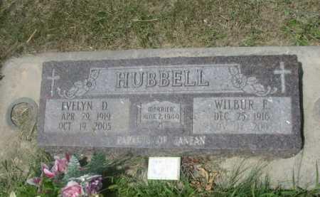 HUBBELL, EVELYN D. - Cass County, Nebraska | EVELYN D. HUBBELL - Nebraska Gravestone Photos
