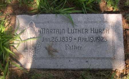 HURSH, MARTAIN LUTHER - Cass County, Nebraska | MARTAIN LUTHER HURSH - Nebraska Gravestone Photos