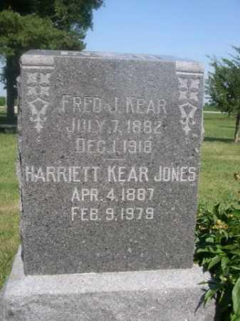 JONES, HARRIETT KEAR - Cass County, Nebraska | HARRIETT KEAR JONES - Nebraska Gravestone Photos
