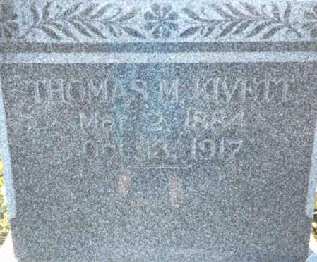 KIVETT, THOMAS M. - Cass County, Nebraska | THOMAS M. KIVETT - Nebraska Gravestone Photos