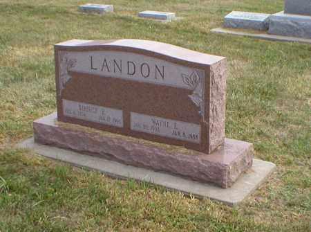 LANDON, WAYNE - Cass County, Nebraska | WAYNE LANDON - Nebraska Gravestone Photos
