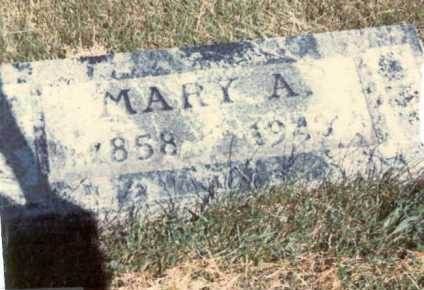MARK, MARY . - Cass County, Nebraska | MARY . MARK - Nebraska Gravestone Photos