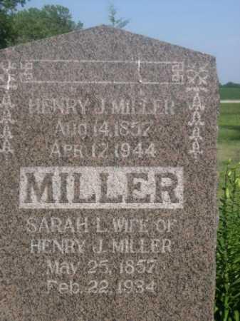 MILLER, SARAH L. - Cass County, Nebraska | SARAH L. MILLER - Nebraska Gravestone Photos