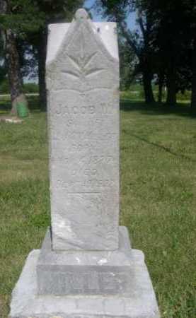 MILLER, JACOB W. - Cass County, Nebraska   JACOB W. MILLER - Nebraska Gravestone Photos