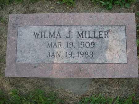 MILLER, WILMA J. - Cass County, Nebraska   WILMA J. MILLER - Nebraska Gravestone Photos