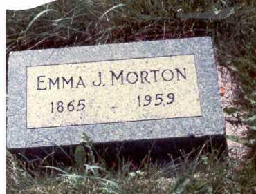 MORTON, EMMA J. - Cass County, Nebraska | EMMA J. MORTON - Nebraska Gravestone Photos