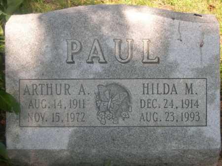 PAUL, ARTHUR A. - Cass County, Nebraska   ARTHUR A. PAUL - Nebraska Gravestone Photos