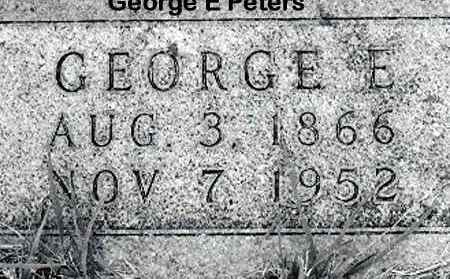 "PETERS, GERIG ""GEORGE"" EMIEL - Cass County, Nebraska | GERIG ""GEORGE"" EMIEL PETERS - Nebraska Gravestone Photos"