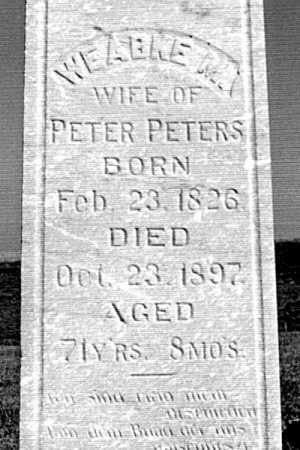 SCHOMAKER PETERS, WEABKE MAGDALENA - Cass County, Nebraska | WEABKE MAGDALENA SCHOMAKER PETERS - Nebraska Gravestone Photos