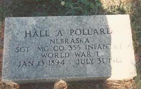 POLLARD, HALL A. - Cass County, Nebraska | HALL A. POLLARD - Nebraska Gravestone Photos
