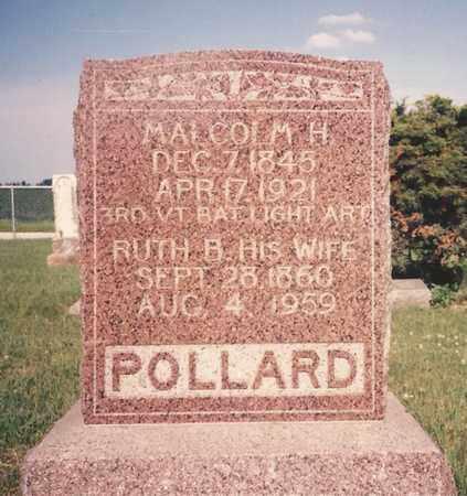 POLLARD, MALCOLM H. - Cass County, Nebraska   MALCOLM H. POLLARD - Nebraska Gravestone Photos