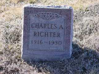 RICHTER, CHARLES A. - Cass County, Nebraska | CHARLES A. RICHTER - Nebraska Gravestone Photos