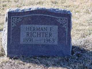 RICHTER, HERMAN E. - Cass County, Nebraska | HERMAN E. RICHTER - Nebraska Gravestone Photos