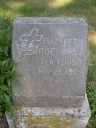 ROELOFSZ, ELIZABETH - Cass County, Nebraska | ELIZABETH ROELOFSZ - Nebraska Gravestone Photos