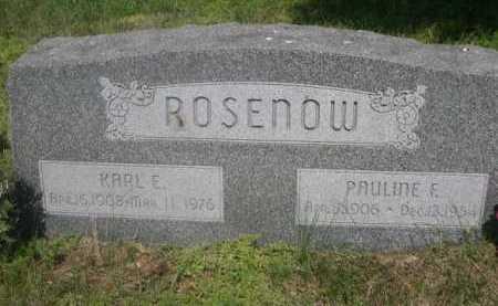 ROSENOW, KARL E. - Cass County, Nebraska | KARL E. ROSENOW - Nebraska Gravestone Photos