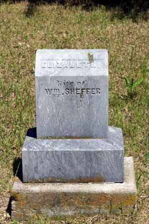 SHEFFER, ELIZABETH - Cass County, Nebraska   ELIZABETH SHEFFER - Nebraska Gravestone Photos