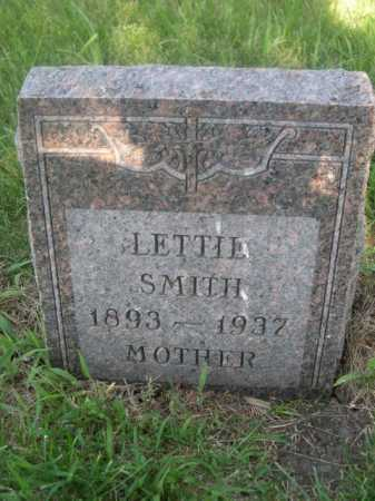 SMITH, LETTIE - Cass County, Nebraska | LETTIE SMITH - Nebraska Gravestone Photos