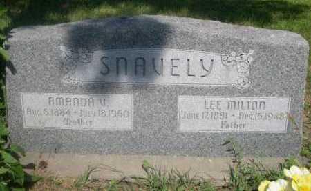 SNAVELY, AMANDA V. - Cass County, Nebraska | AMANDA V. SNAVELY - Nebraska Gravestone Photos
