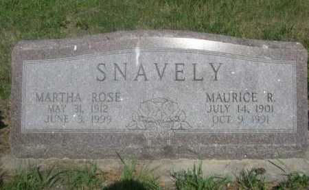 SNAVELY, MARTHA ROSE - Cass County, Nebraska | MARTHA ROSE SNAVELY - Nebraska Gravestone Photos