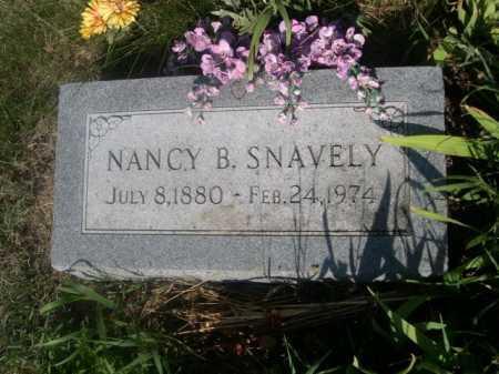SNAVELY, NANCY B. - Cass County, Nebraska   NANCY B. SNAVELY - Nebraska Gravestone Photos