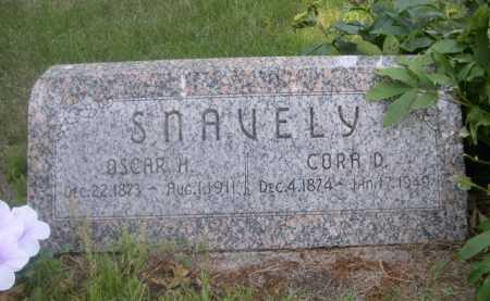 SNAVELY, OSCAR H. - Cass County, Nebraska | OSCAR H. SNAVELY - Nebraska Gravestone Photos