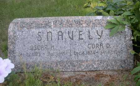 SNAVELLY, CORA D. - Cass County, Nebraska | CORA D. SNAVELLY - Nebraska Gravestone Photos