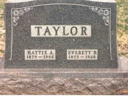 TAYLOR, EVERETT B. - Cass County, Nebraska | EVERETT B. TAYLOR - Nebraska Gravestone Photos