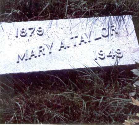 TAYLOR, MARY A. - Cass County, Nebraska   MARY A. TAYLOR - Nebraska Gravestone Photos