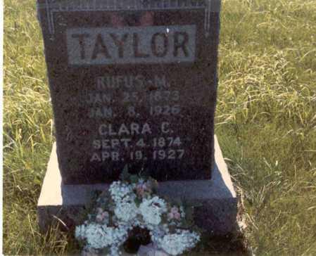 TAYLOR, RUFUS M. - Cass County, Nebraska | RUFUS M. TAYLOR - Nebraska Gravestone Photos