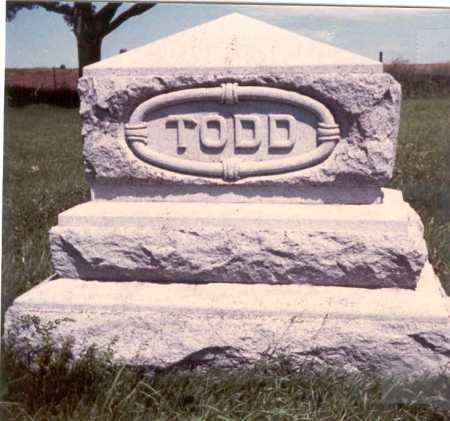 TODD, MONUMENT - Cass County, Nebraska | MONUMENT TODD - Nebraska Gravestone Photos