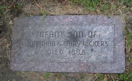 VICKERS, INFRANT SON OF JONATHAN & MARY - Cass County, Nebraska   INFRANT SON OF JONATHAN & MARY VICKERS - Nebraska Gravestone Photos
