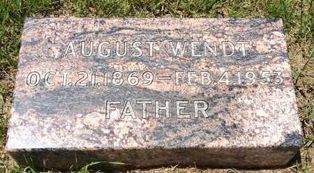WENDT, AUGUST - Cass County, Nebraska | AUGUST WENDT - Nebraska Gravestone Photos