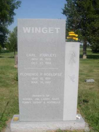 WINGET, CARL (CURLEY) - Cass County, Nebraska | CARL (CURLEY) WINGET - Nebraska Gravestone Photos