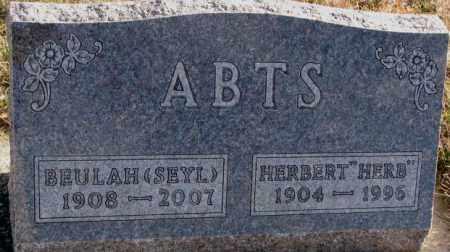 ABTS, BEULAH - Cedar County, Nebraska | BEULAH ABTS - Nebraska Gravestone Photos