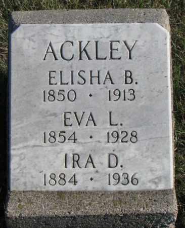 ACKLEY, EVA L. - Cedar County, Nebraska | EVA L. ACKLEY - Nebraska Gravestone Photos