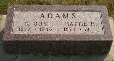 ADAMS, HATTIE H - Cedar County, Nebraska | HATTIE H ADAMS - Nebraska Gravestone Photos