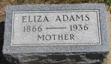 ADAMS, ELIZA - Cedar County, Nebraska | ELIZA ADAMS - Nebraska Gravestone Photos