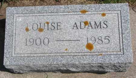 ADAMS, LOUISE - Cedar County, Nebraska   LOUISE ADAMS - Nebraska Gravestone Photos