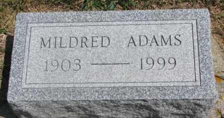ADAMS, MILDRED - Cedar County, Nebraska | MILDRED ADAMS - Nebraska Gravestone Photos