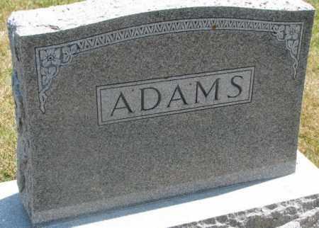 ADAMS, PLOT - Cedar County, Nebraska | PLOT ADAMS - Nebraska Gravestone Photos
