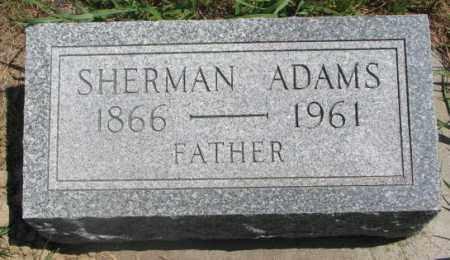 ADAMS, SHERMAN - Cedar County, Nebraska | SHERMAN ADAMS - Nebraska Gravestone Photos
