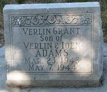 ADAMS, VERLIN GRANT - Cedar County, Nebraska | VERLIN GRANT ADAMS - Nebraska Gravestone Photos