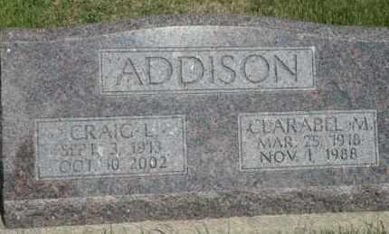 ADDISON, CLARABEL M - Cedar County, Nebraska | CLARABEL M ADDISON - Nebraska Gravestone Photos