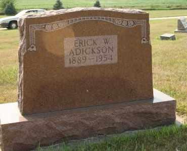 ADICKSON, ERICK W - Cedar County, Nebraska | ERICK W ADICKSON - Nebraska Gravestone Photos