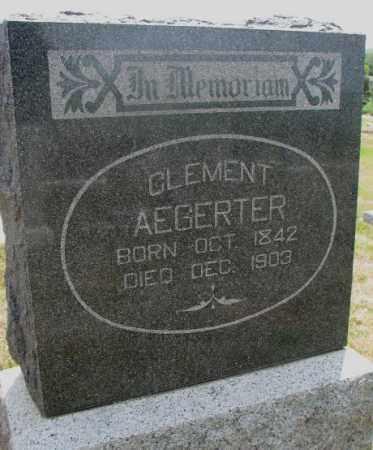AEGERTER, CLEMENT - Cedar County, Nebraska | CLEMENT AEGERTER - Nebraska Gravestone Photos