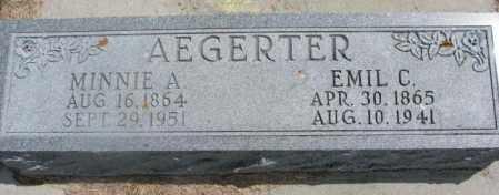 AEGERTER, EMIL C. - Cedar County, Nebraska | EMIL C. AEGERTER - Nebraska Gravestone Photos