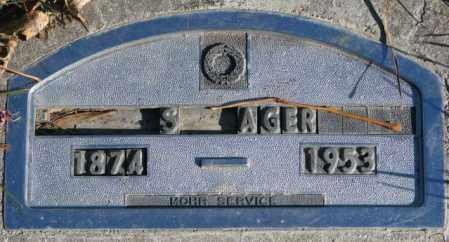 AGER, S. - Cedar County, Nebraska   S. AGER - Nebraska Gravestone Photos