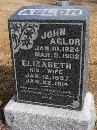 AGLOR, ELIZABETH - Cedar County, Nebraska | ELIZABETH AGLOR - Nebraska Gravestone Photos