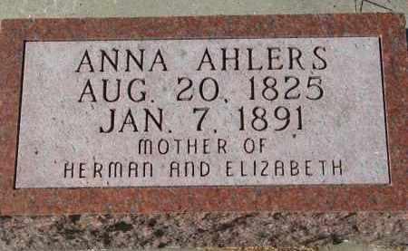 AHLERS, ANNA - Cedar County, Nebraska | ANNA AHLERS - Nebraska Gravestone Photos